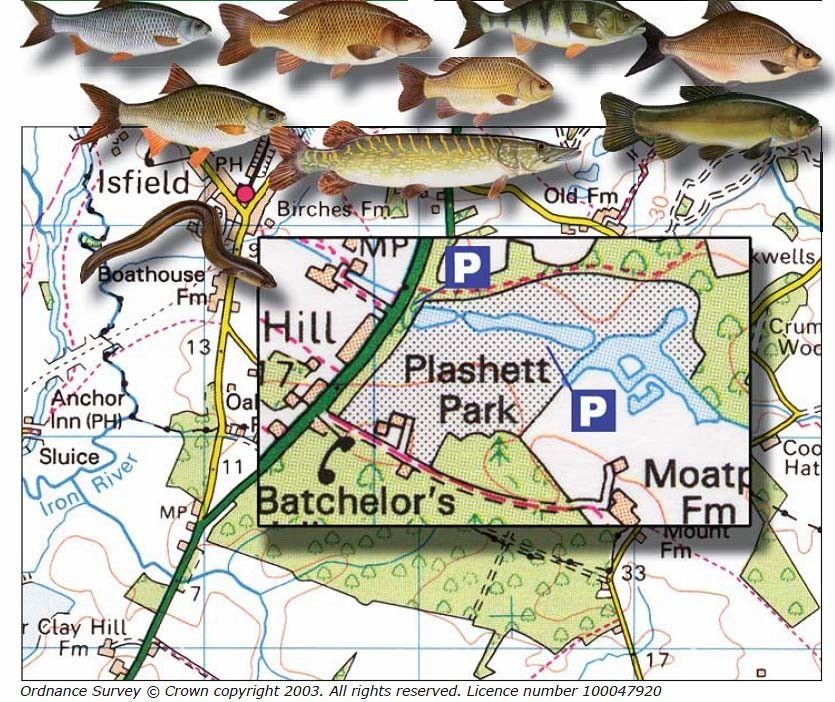 Map Plashett Lake